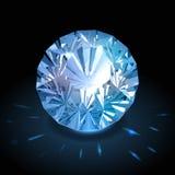 Realistic diamond vector Royalty Free Stock Photos