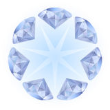 Realistic diamonds pattern Stock Images