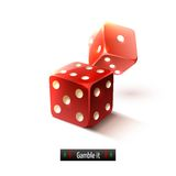 Realistic dice isolated Royalty Free Stock Photo
