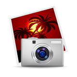 Realistic digital camera Royalty Free Stock Image