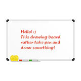 Realistic drawing board. Vector illustrations realistic drawing board. Vector blank white board with colored markers. Billboard and business, education Royalty Free Stock Photography