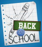 Realistic Drawing of a Mechanical Pencil for Back to School, Vector Illustration Royalty Free Stock Photo