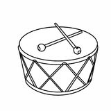 Realistic drum illusration drawing battery coloring drawing illustration white background Stock Images