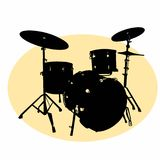 Realistic drum illusration drawing battery coloring drawing illustration white background Royalty Free Stock Image