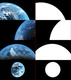 Realistic Earth Closeup Renders Stock Photo