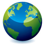 Realistic earth globe Stock Photography