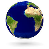 Realistic earth globe Royalty Free Stock Image