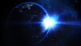 Realistic Earth and Sun Royalty Free Stock Photography