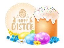Happy Easter celebration vector illustration