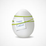 Realistic Easter egg with a note Royalty Free Stock Photo