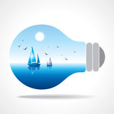 Realistic eco bulb Royalty Free Stock Photography
