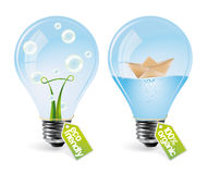 Realistic eco bulbs - set 3 Stock Images
