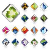 Realistic Ecology Icon Royalty Free Stock Photos
