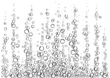 Realistic  effervescent drink bubbles. Champagne. Realistic  effervescent drink. Underwater fizzing air bubbles on white  background. Soda pop. Undersea vector Stock Photo