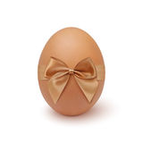 Realistic egg icon with ribbon Royalty Free Stock Photos