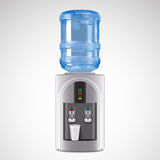Realistic Electric Water Cooler with plastic glass Royalty Free Stock Photos
