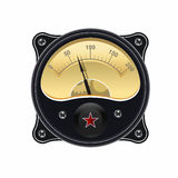 Realistic electronic analog VU signal meter Stock Images