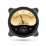 Realistic electronic analog VU signal meter Royalty Free Stock Images