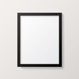 Realistic Empty Black Picture Frame Mockup Royalty Free Stock Photography
