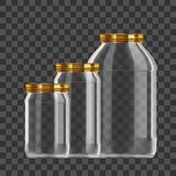 Realistic Empty 3L Glass Jar Set Isolated On White Background royalty free stock photo