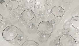 Realistic Empty Wine Glasses Stock Images