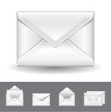 Realistic envelope. 5 realistic vector mail icons Royalty Free Stock Photography