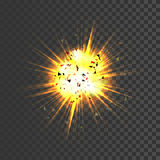 Realistic explosion icon Royalty Free Stock Images