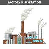Realistic Factory Illustration Stock Images