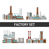 Realistic Factory Set Stock Photo