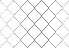 Realistic Fence Rabitz pattern. Seamless connection of protective grid. Vector rabitz grid. Robust, modern chrome-plated wire.  royalty free illustration