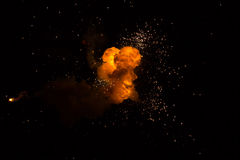 Realistic fiery explosion Royalty Free Stock Image