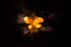 Realistic fiery explosion royalty free stock images