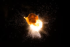 Realistic fiery explosion Stock Photography