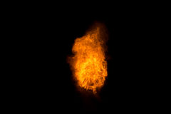 Realistic fiery explosion over a black background Royalty Free Stock Photography