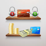 Realistic Finance Collection Royalty Free Stock Images