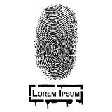 Realistic Fingerprint and frame for fill text Royalty Free Stock Photos