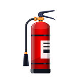 Realistic Fire extinguisher icon isolated on white. Royalty Free Stock Photos