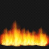 Realistic fire flame Royalty Free Stock Images