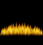 Realistic Fire Flame  Royalty Free Stock Photos