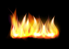 Realistic fire flame vector element Royalty Free Stock Image