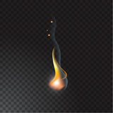 Realistic fire flame. Vector illustration. Transparent background Royalty Free Stock Image