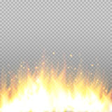 Realistic fire flame vector special effect isolated on transparent background. Royalty Free Stock Images