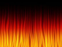 Realistic Fire Flames. Stock Photo