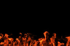 Realistic fire flames burn movement frame Royalty Free Stock Photography
