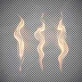 Realistic fire transparent effect element. Abstract magic Illustration Royalty Free Stock Images