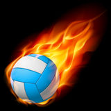 Realistic Fire volleyball. Illustration on white background Royalty Free Stock Photos