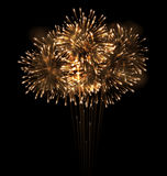 Realistic Fireworks Exploding in the Night Sky. Illustration Realistic Fireworks Exploding in the Night Sky - Vector Royalty Free Stock Image