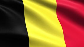 Belgium Looping Flag 4K, with waving fabric texture. Realistic flag of Belgium, Seamless looping with highly detailed fabric texture, 4k resolution stock video