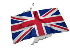 Realistic flag covering the shape of UK (series) Stock Photography