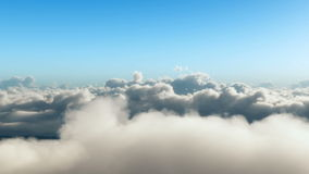 Realistic flight through the clouds stock video footage